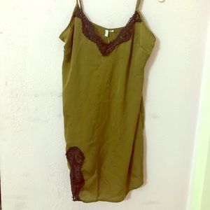 Urban outfitters green slip dress